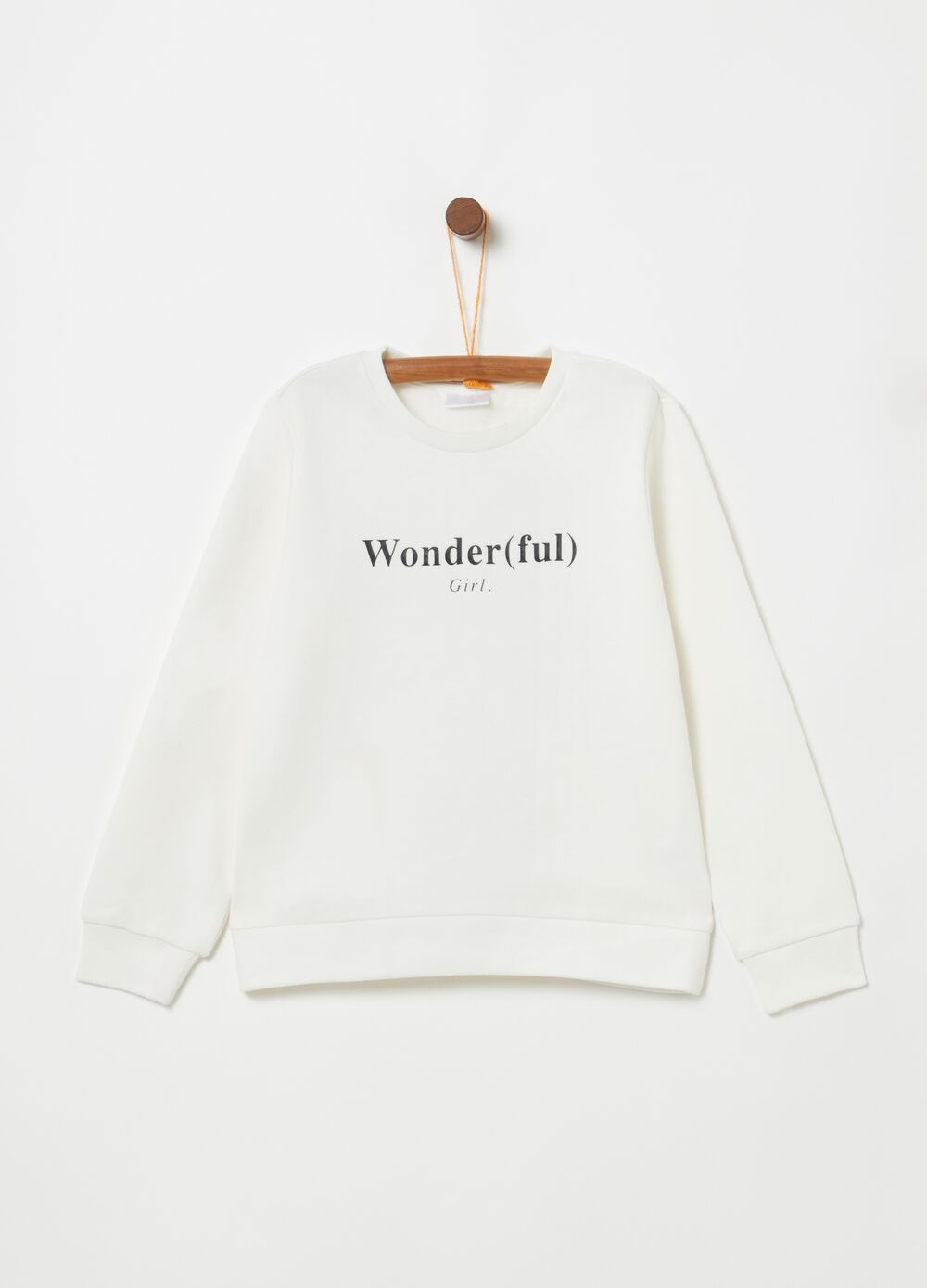 Wonder(ful) Girl sweatshirt in organic cotton