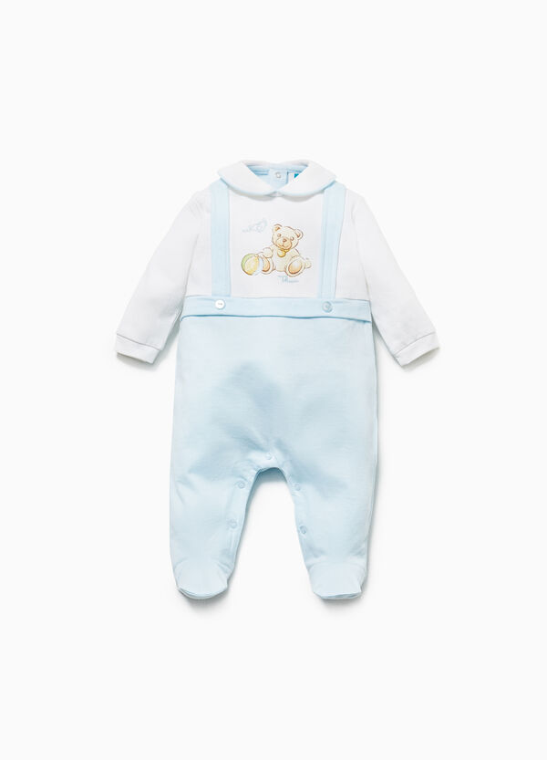 THUN two-tone onesie in 100% cotton