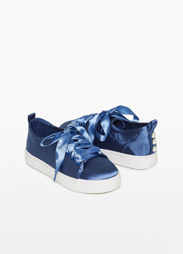 Frosted-effect canvas sneakers