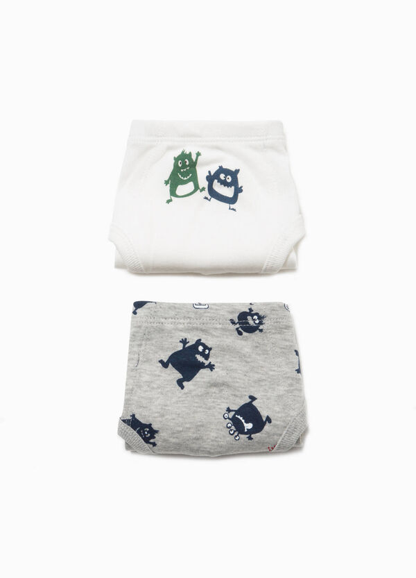 Two-pack organic cotton briefs with print | OVS
