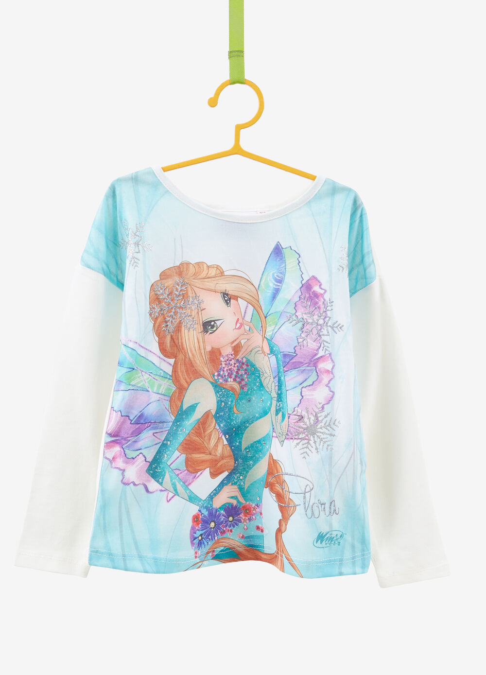 Stretch T-shirt with maxi Winx print