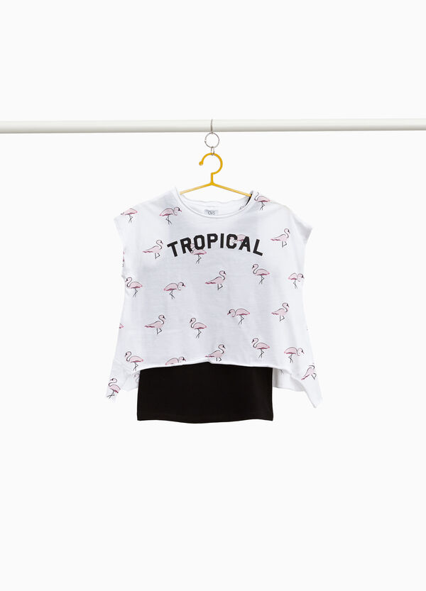 Flamingo top and T-shirt outfit