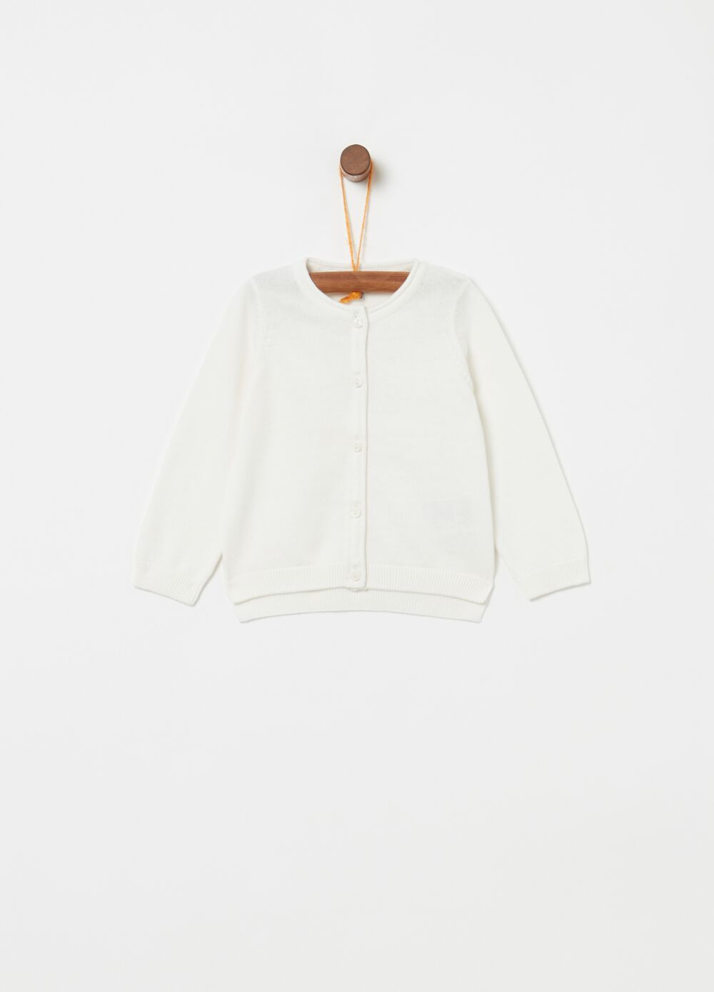 100% cotton cardigan with small buttons