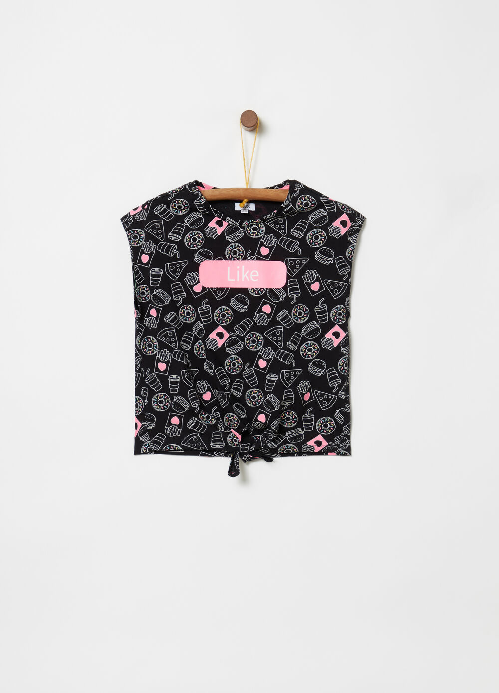 100% cotton T-shirt with print and pattern