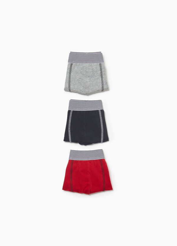 Three-pack striped stretch boxer shorts