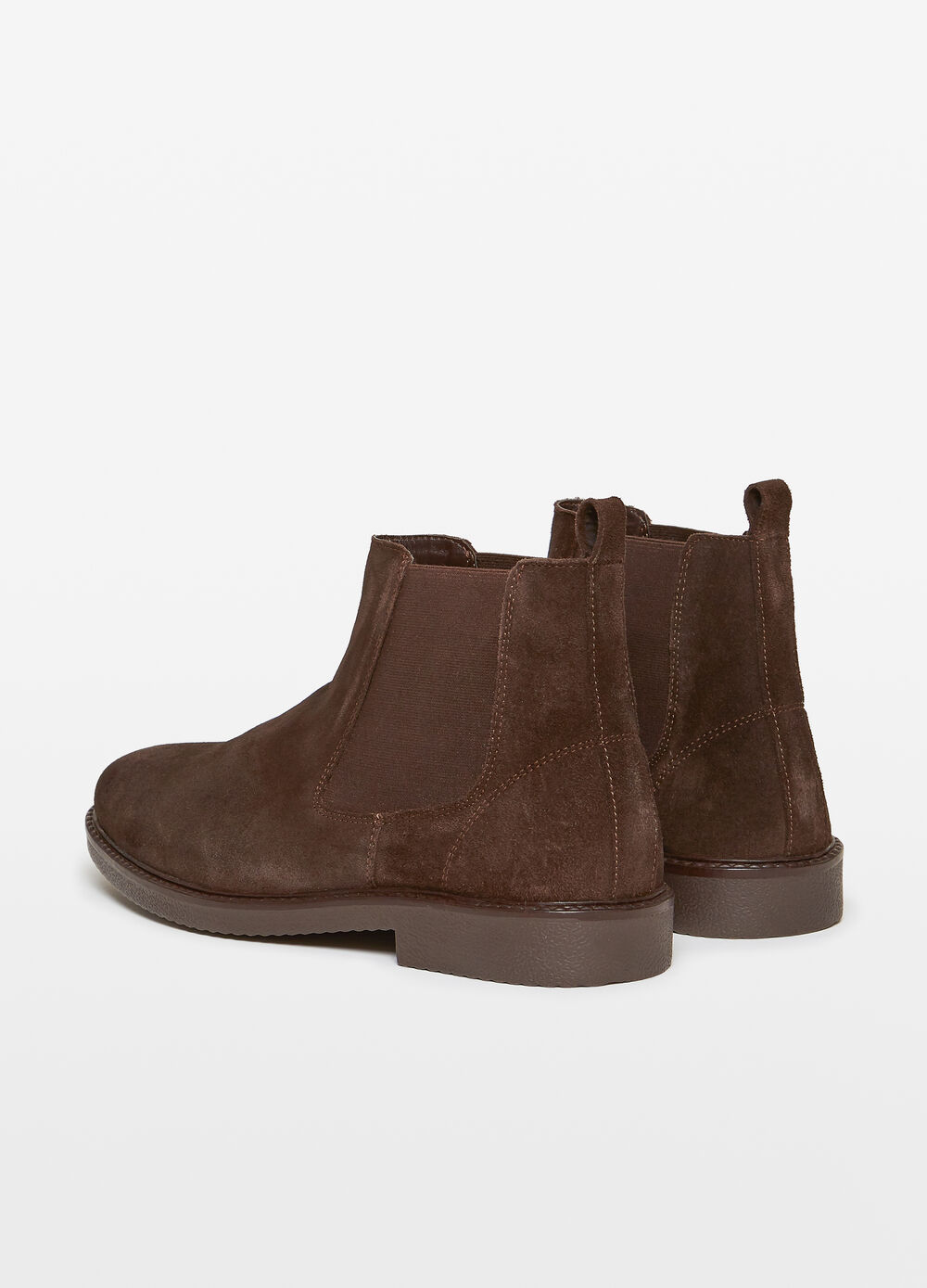 Boots in solid colour leather
