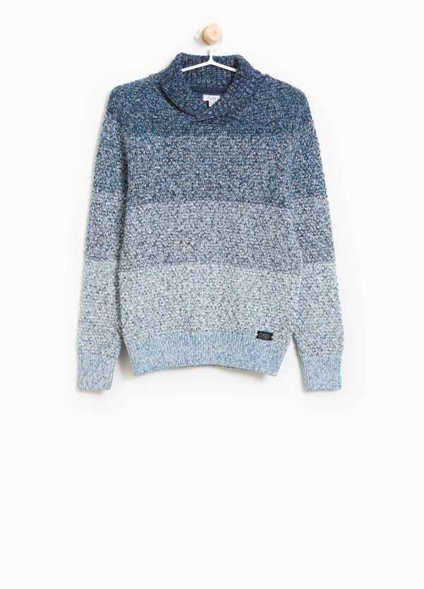 Striped knitted cotton pullover | OVS