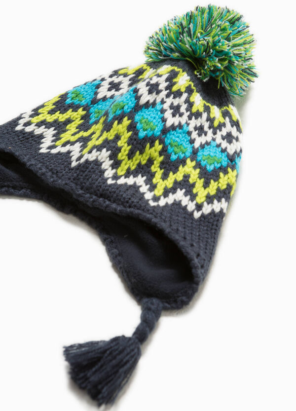 Beanie cap with pompom and tassels | OVS