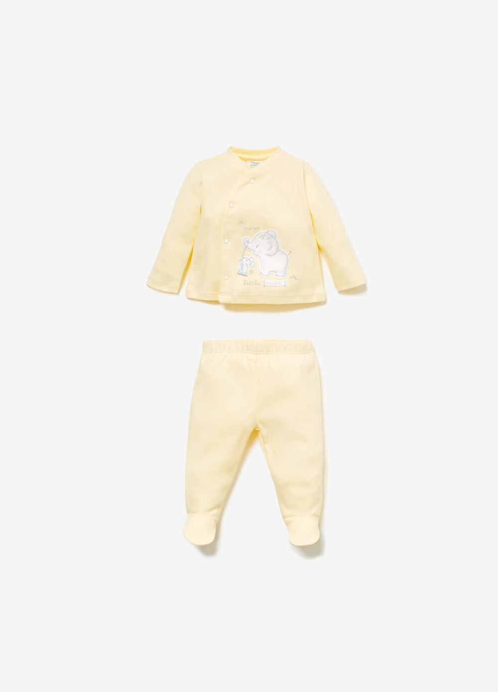 100% cotton outfit with animal patch