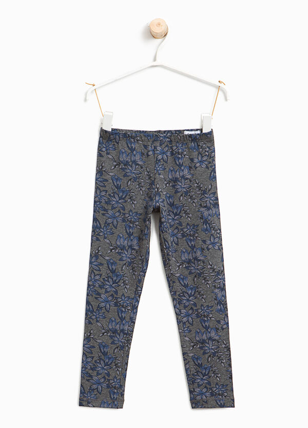 Cotton leggings with floral print | OVS