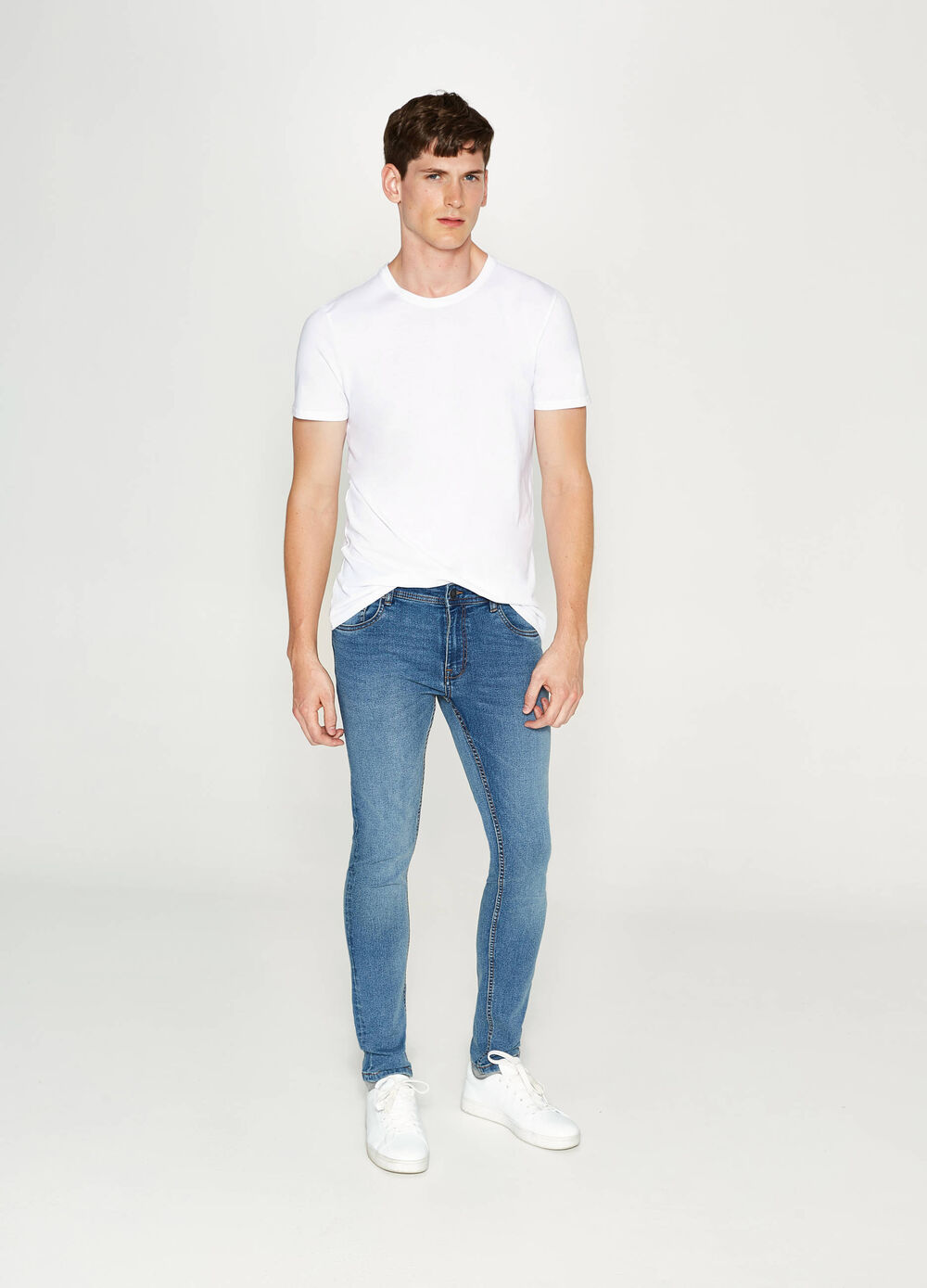 Jean super skinny fit stretch délavé