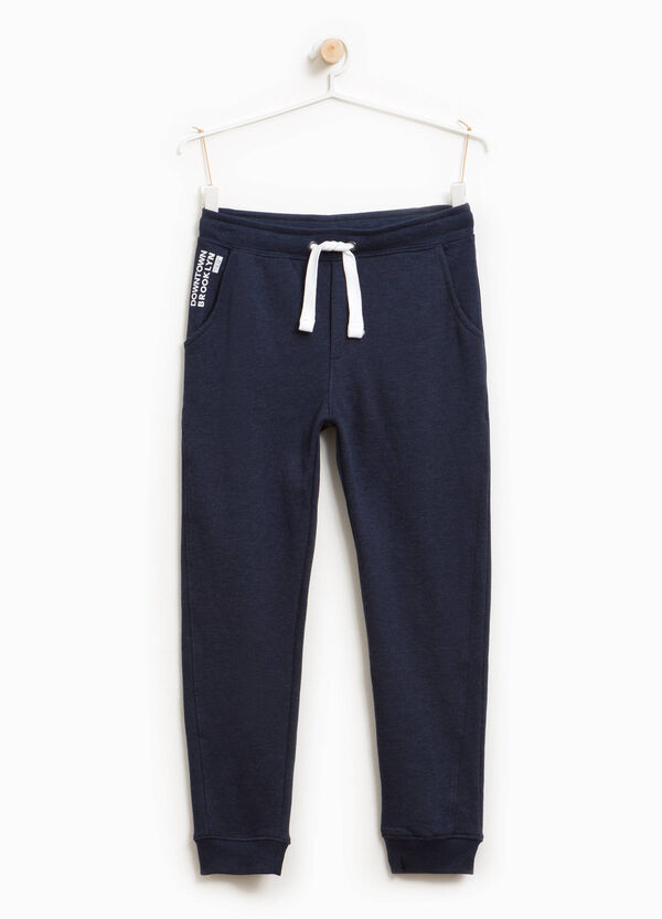Joggers with lettering print and drawstring | OVS