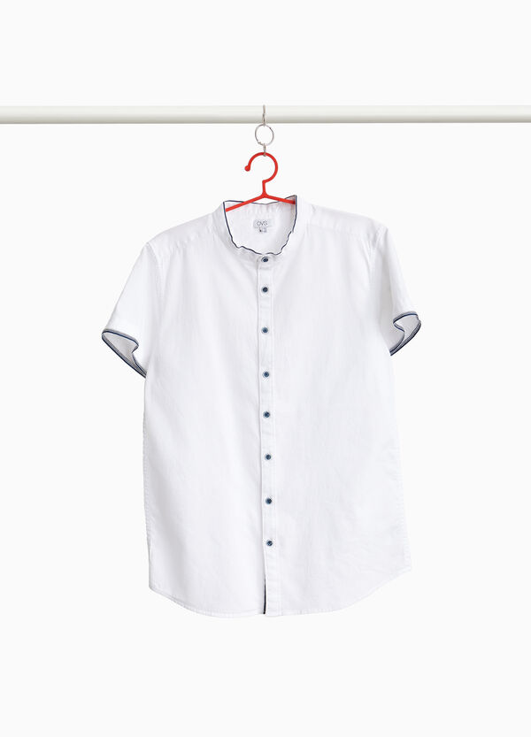 100% cotton shirt with Mandarin collar