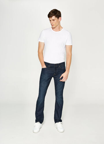 Regular fit jeans with worn effect