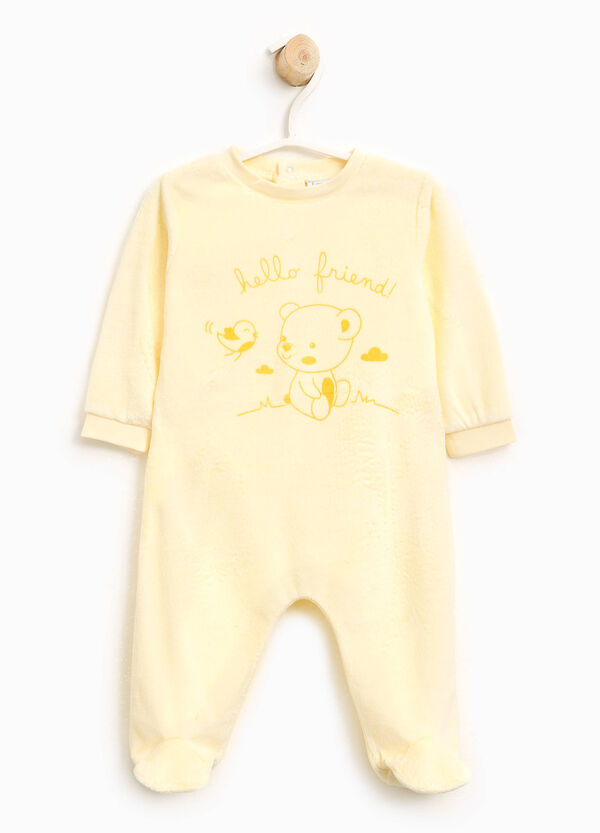 Cotton blend velour sleepsuit | OVS