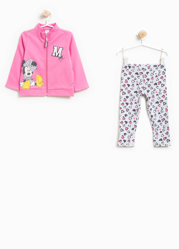 Stretch cotton tracksuit with Minnie Mouse print | OVS
