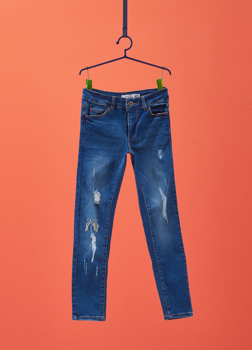 Super-skinny-fit jeans with embroidery