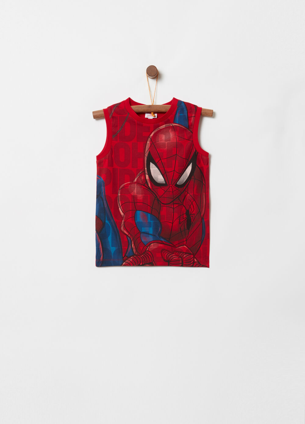 Tank top with Marvel Spider-Man pattern