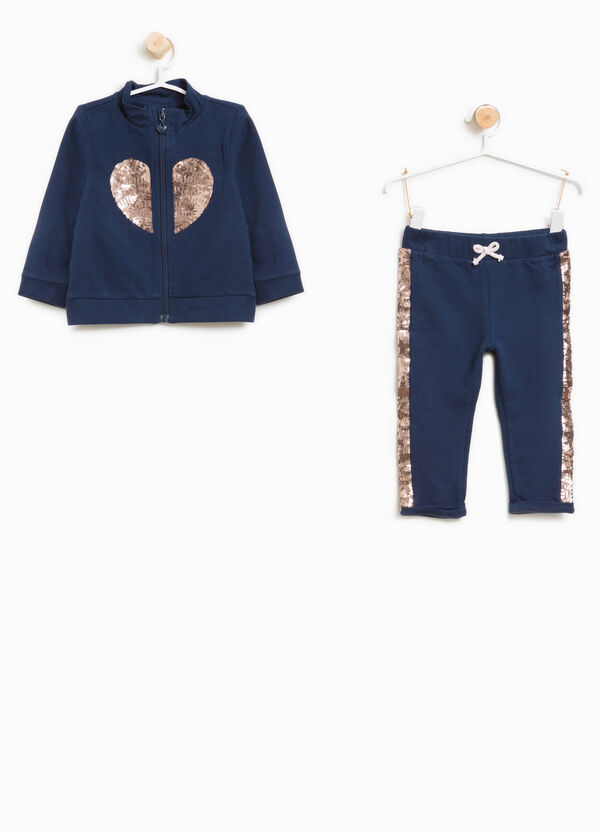 Stretch cotton tracksuit with sequins | OVS