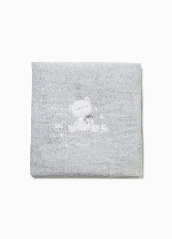 Blanket with embroidery and animal pathc | OVS
