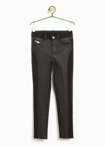 Viscose trousers with insert