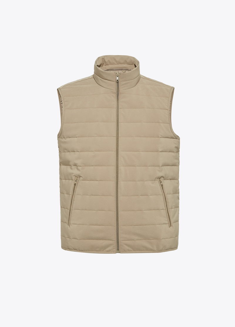 PIOMBO padded gilet with high collar image number null