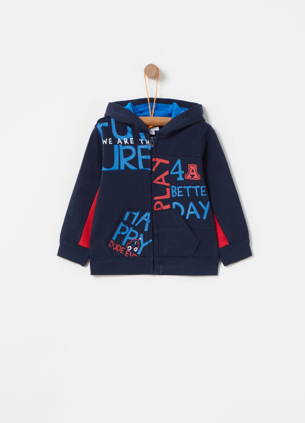 Hoodie with printed lettering