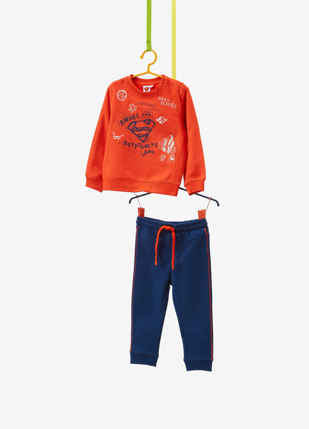100% cotton tracksuit with Superman print