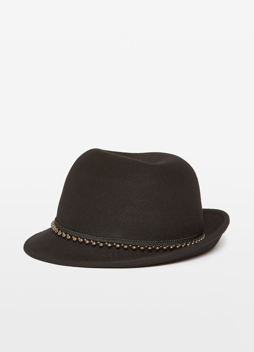 Wide-brimmed felt hat with insert