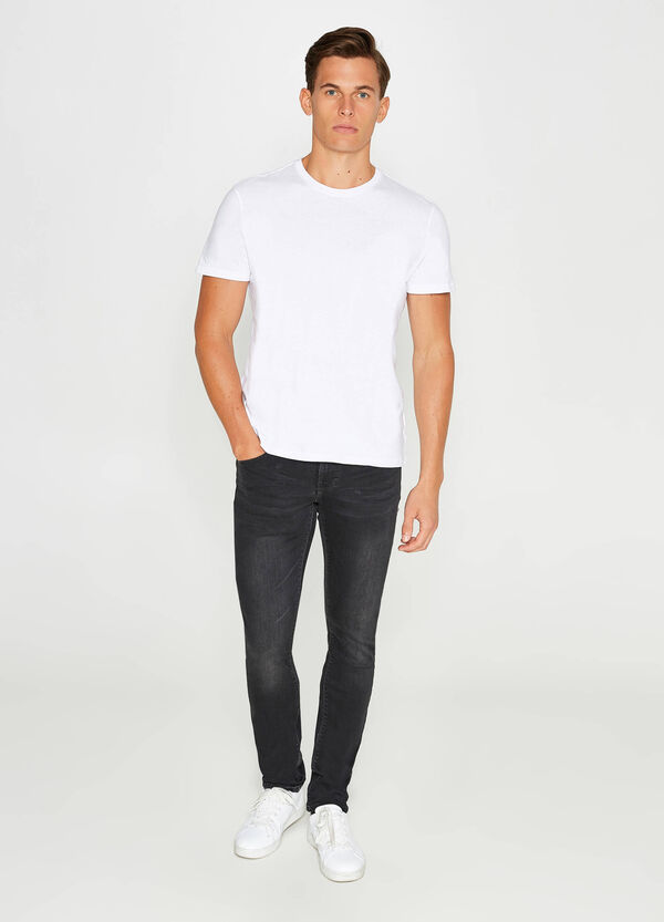 Solid colour skinny fit stretch jeans | OVS