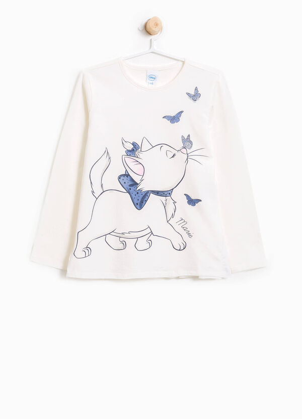 Stretch T-shirt with The Aristocats print | OVS
