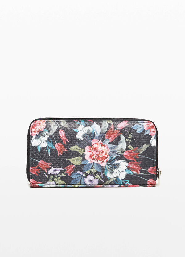Purse with floral print