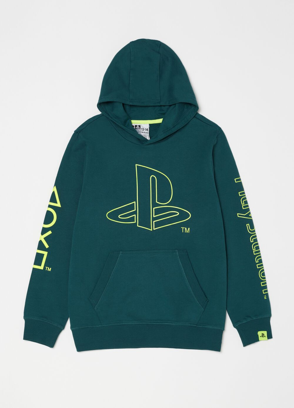 Sweatshirt with round neck and Playstation print