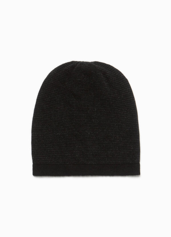Solid colour wool beanie cap