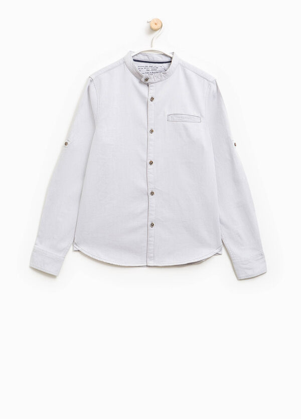100% cotton shirt with small pocket | OVS