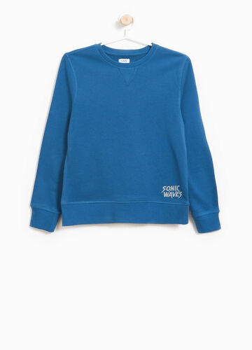 Sweatshirt in cotton with printed lettering