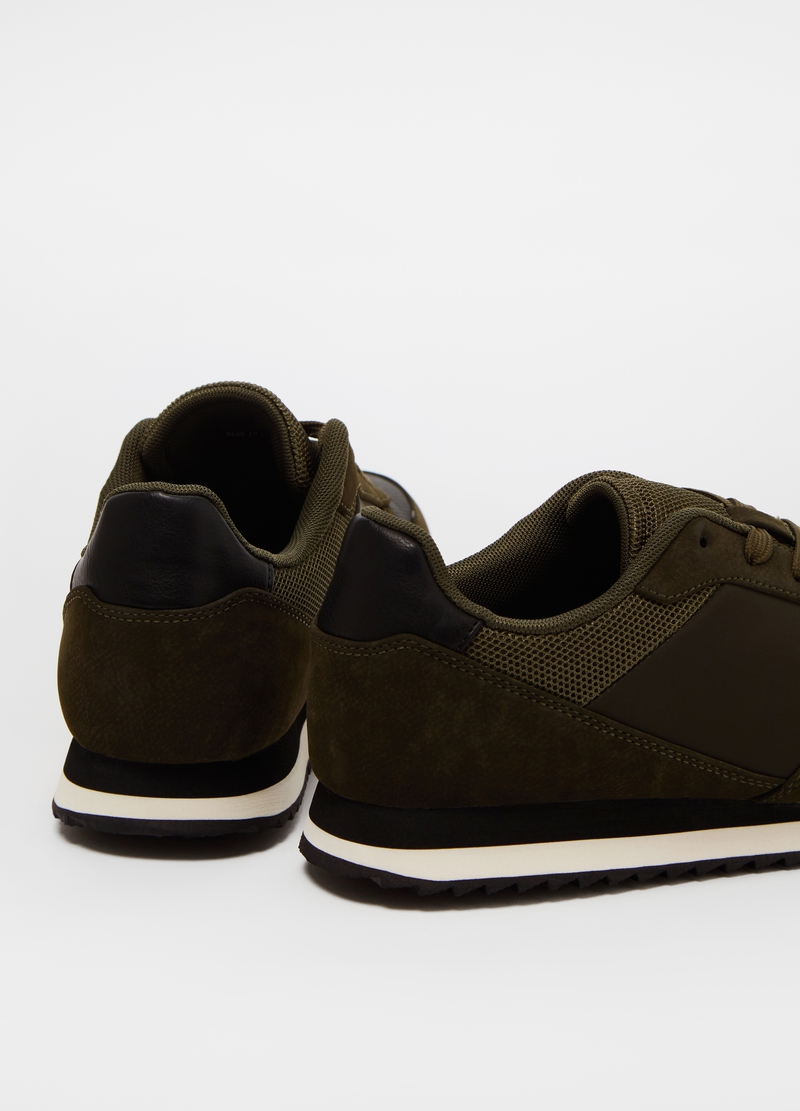 Sneakers with suede-effect inserts image number null
