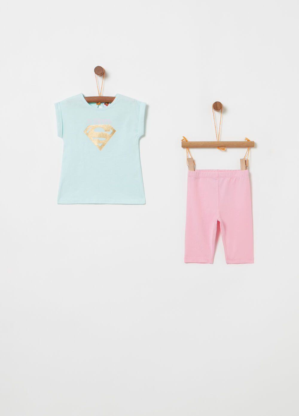 BCI glitter T-shirt and leggings jogging set