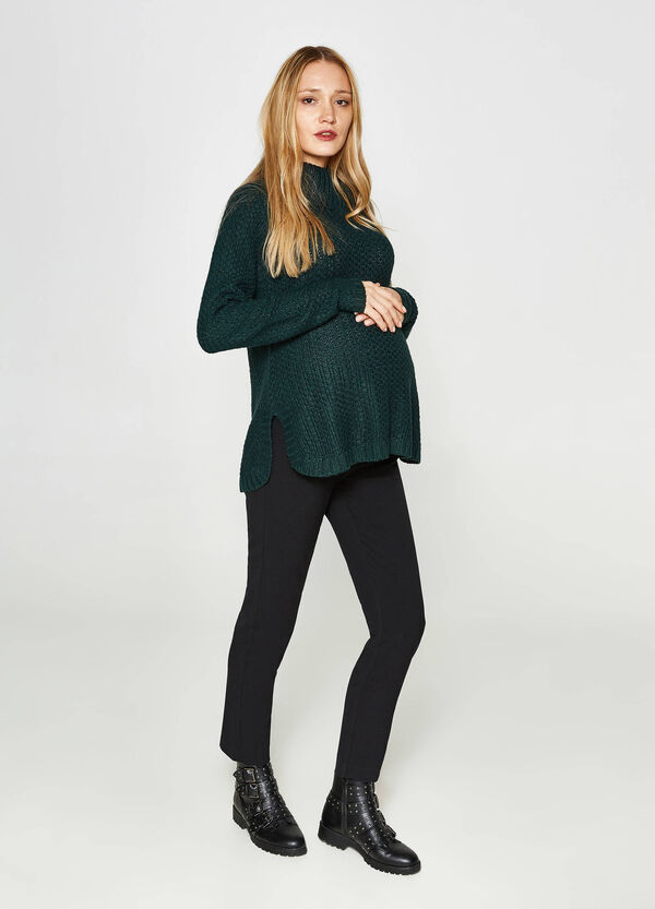 MUM chunky knit turtleneck jumper
