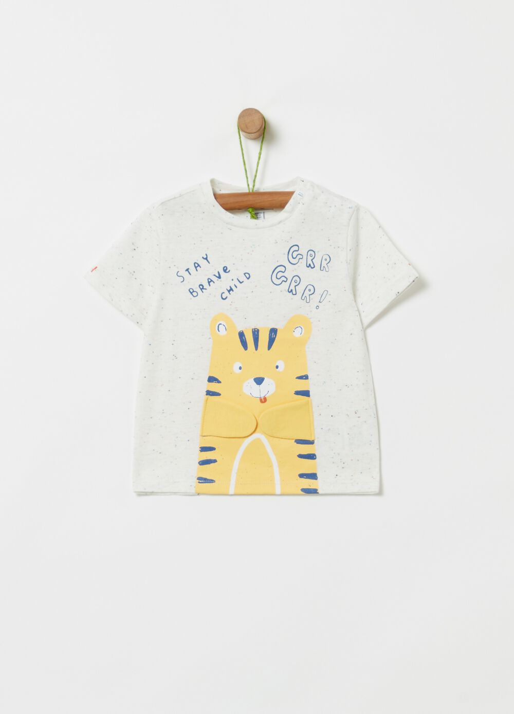 Organic cotton T-shirt with tigers