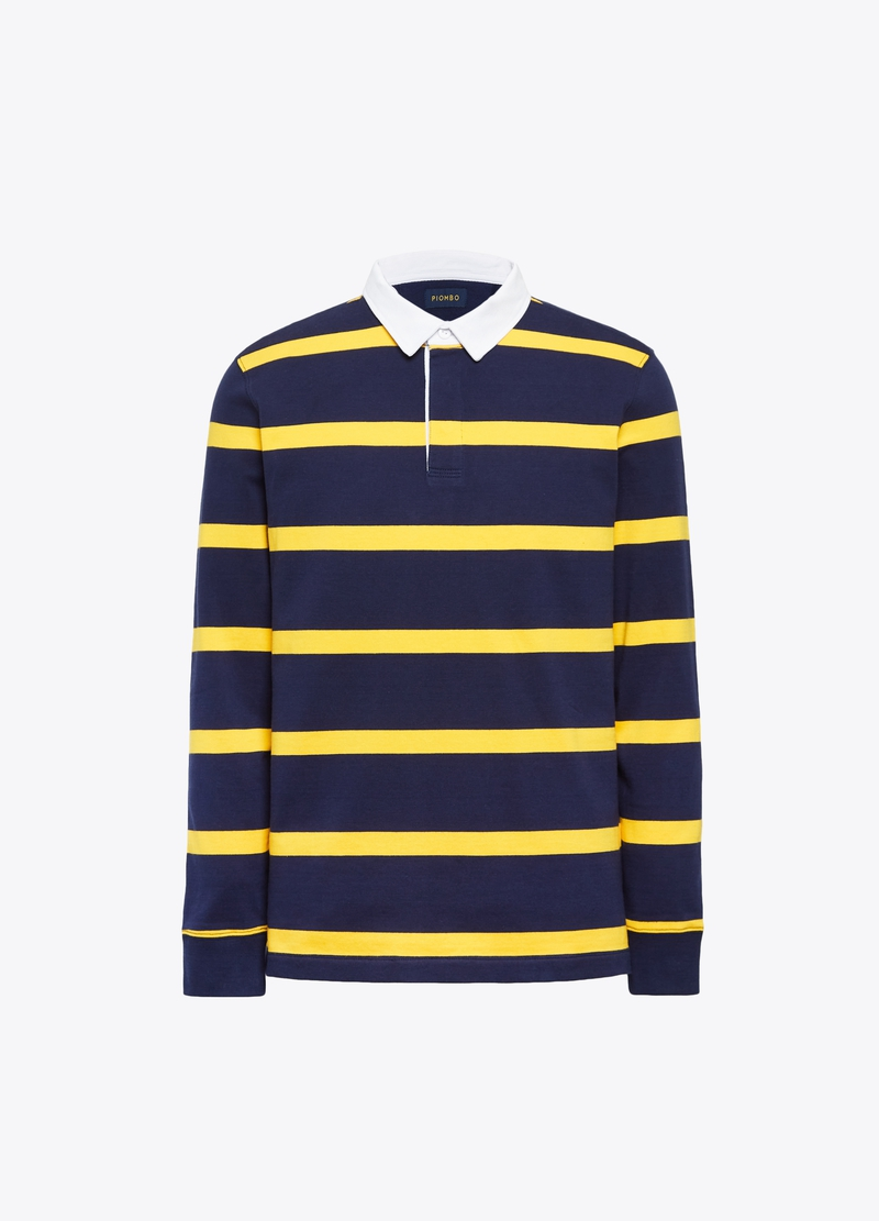 PIOMBO 100% cotton striped polo shirt image number null