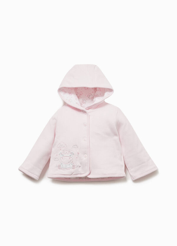 100% cotton jacket with cow patch
