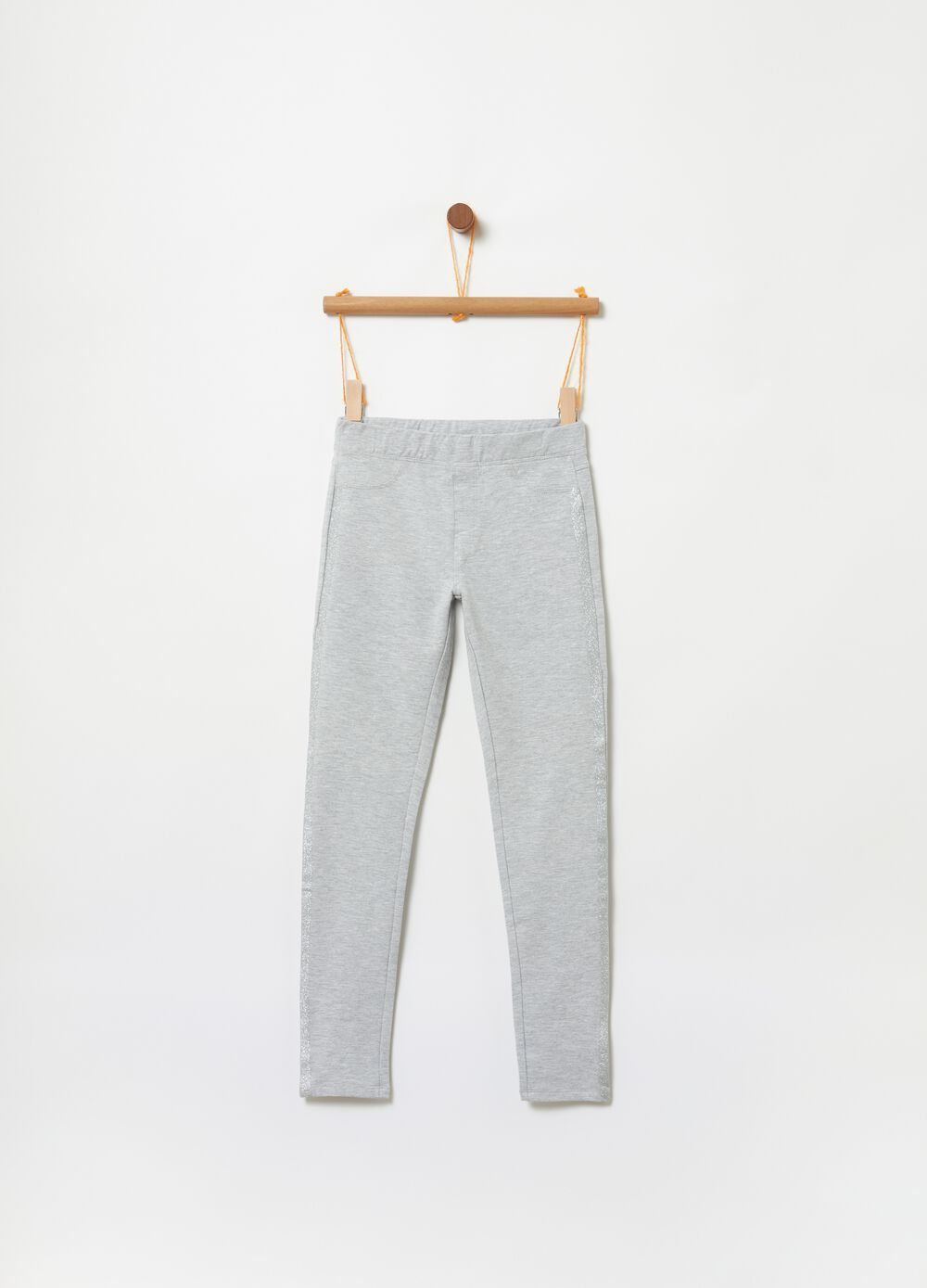 French terry organic cotton trousers