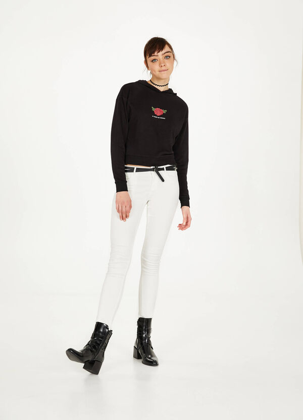 Lyocell and cotton blend trousers