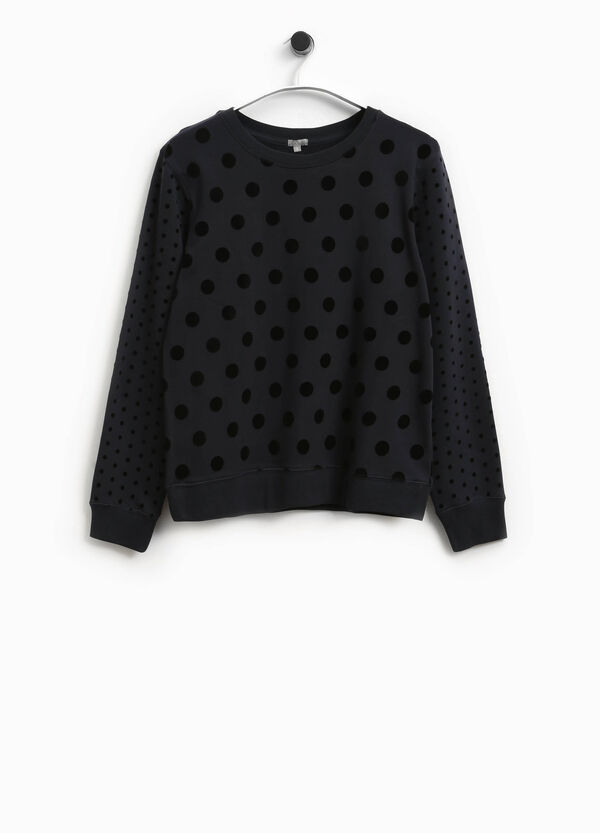 T-shirt in cotone a pois Smart Basic