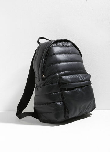 Quilted backpack with zip