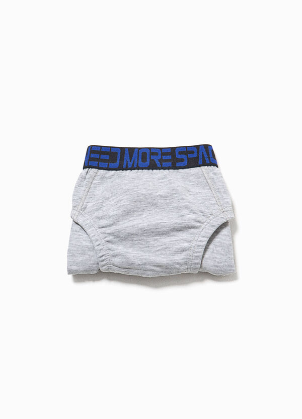 Organic cotton briefs with lettering print