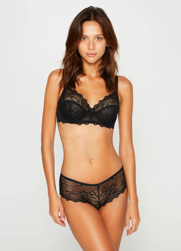 French knickers in stretch lace   OVS