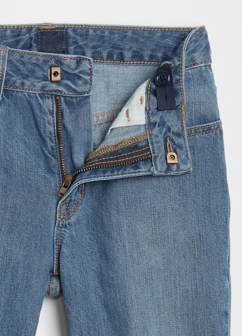 GAP girlfriend-fit jeans with rips image number null