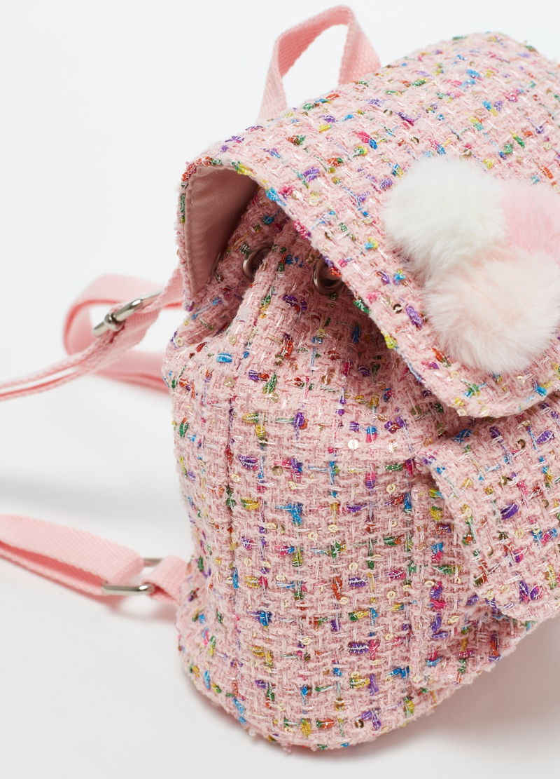 Backpack with lurex and sequins image number null